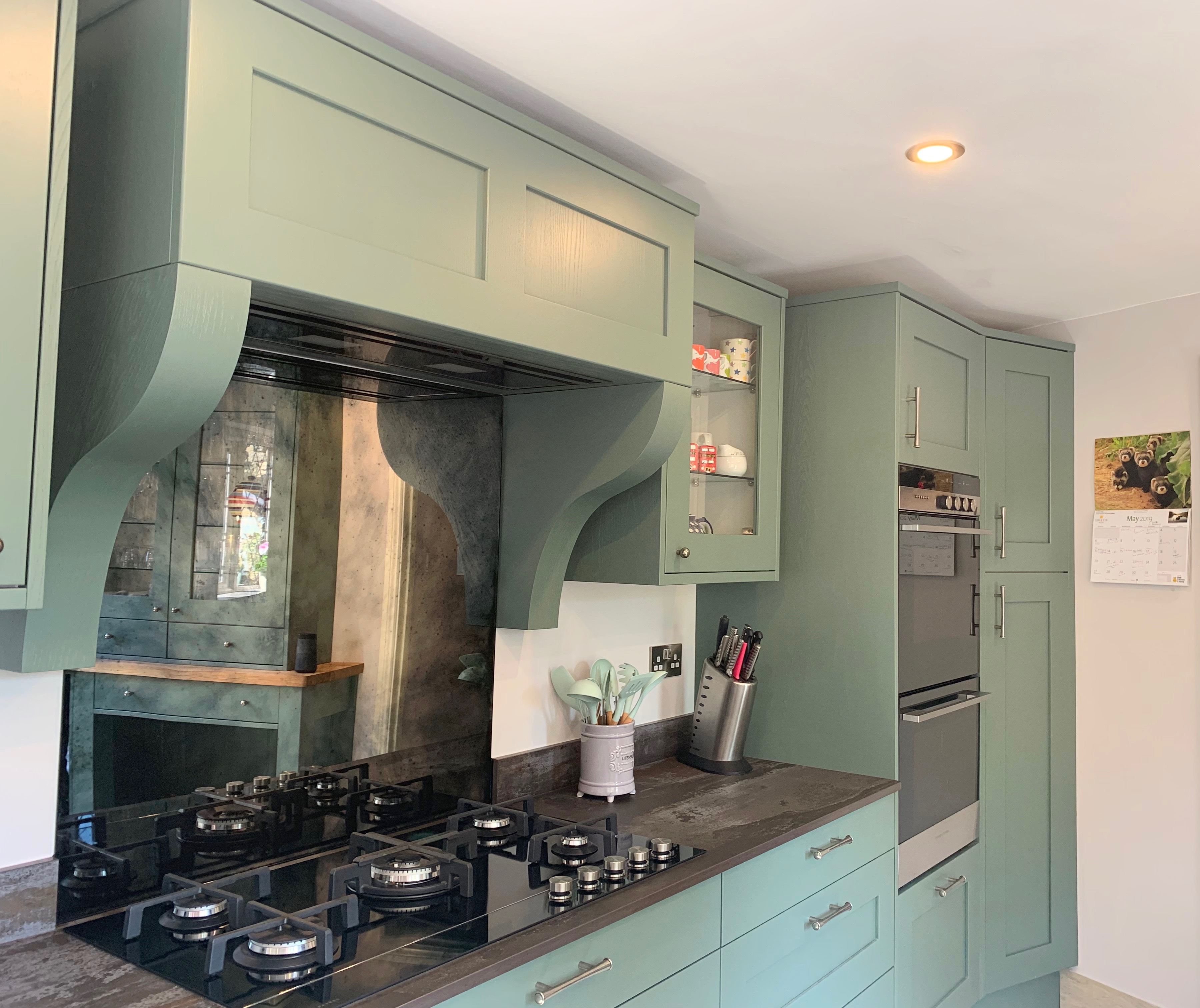 Painted Shaker Kitchen In Fern Lima Kitchens
